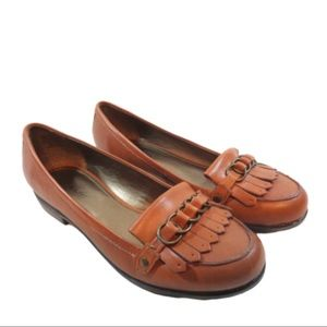 Kelly & Katie Brown Leather Slip On Loafer 8